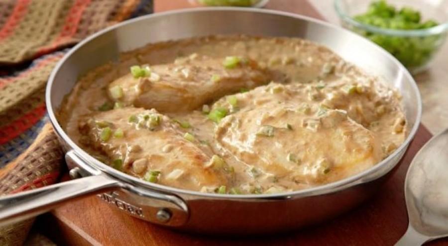 Tejszínes mustáros csirkemell fél óra alatt kész is van!