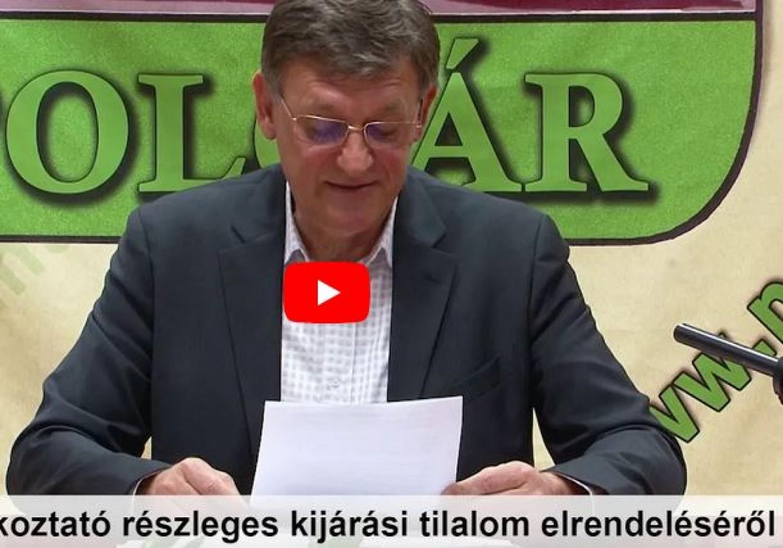 Ez az első magyar város, ahol a polgármester bevezette a részleges kijárási tilalmat
